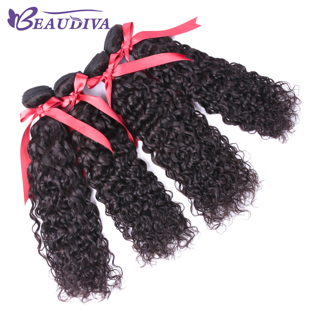 Beaudiva Malaysia Water Wave Bundles Human Hair Extension Natural Color Weave Bundle NonRemy Hair Free Shipping 10pcs one pack