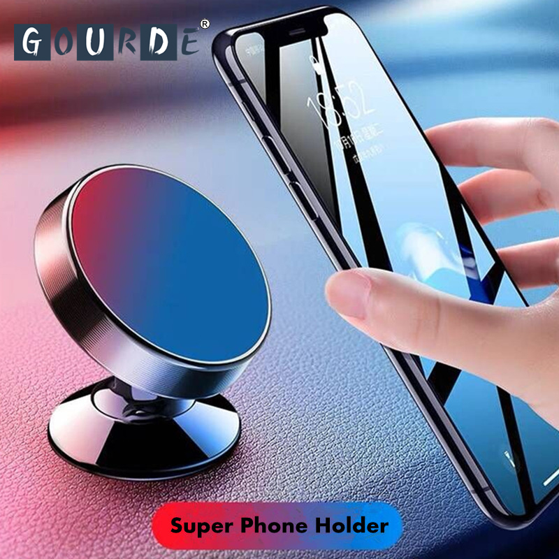 Gourde Holder For Magnetic Car Phone Holder For iphone X 8 7 Samsung S9 GPS Universal