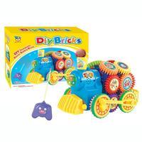 DIY Imagination Building Bricks Blocks Remote Control Train Building Kit Toys Education Toy Drop Shipping Y1206
