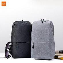 Original xiaomi mochila saco de peito moda lazer sacos de viagem saco urbano 200*100*400mm para homem feminino tamanho pequeno