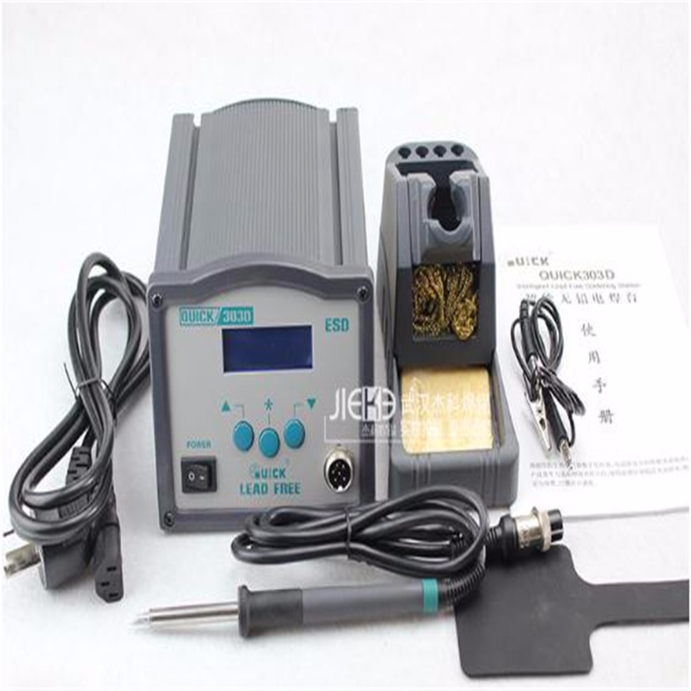 QUICK303D intelligent lead-free soldering station , Iron 120W , High-frequency eddy currents, Dual temperature display, yihua 950 lead free high frequency soldering station 150w 220v
