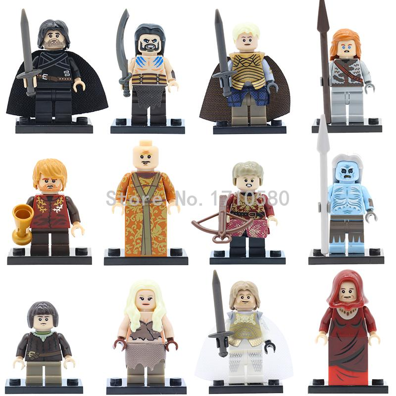 Game of Thrones Ice and Fire Ride Skeleton Horse Building Blocks Single Sale Jon Snow Daenerys Lord Varys White Walker Kids Toys limited edition game of thrones jon snow