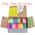 24 colors Play foam Light Soft Colored Modeling Clay Model Magic Air Dry slime Plasticine Play Set  Playdough with free gift