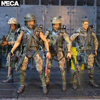 NECA-figuras de acción de la colonia Marine Corps, soldado, AVP Predator Aliens,...