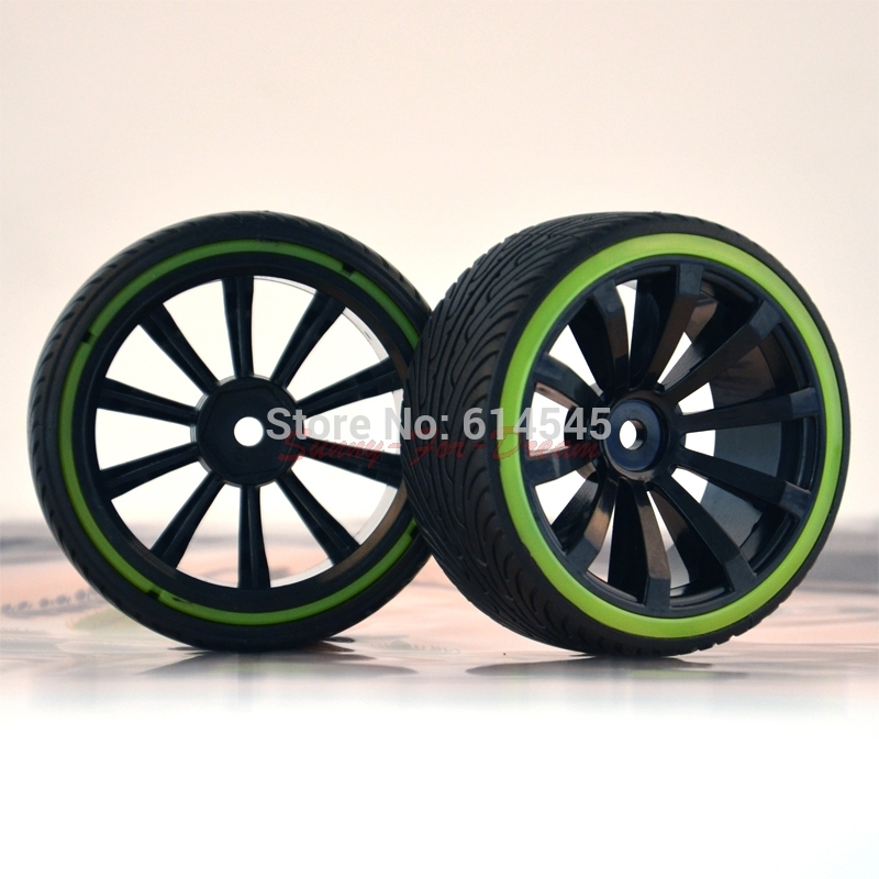 4PCS 601-5010 RC Car 1:10 On-Road Drift Wheel Rims & Tyre,Tires Fit HSP HPI 1/10 MODEL CAR PARTS