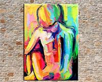Hand Painted Palette Knife Abstract Oil Painting On Canvas Wall Painting Pictures Nude Girls For Living