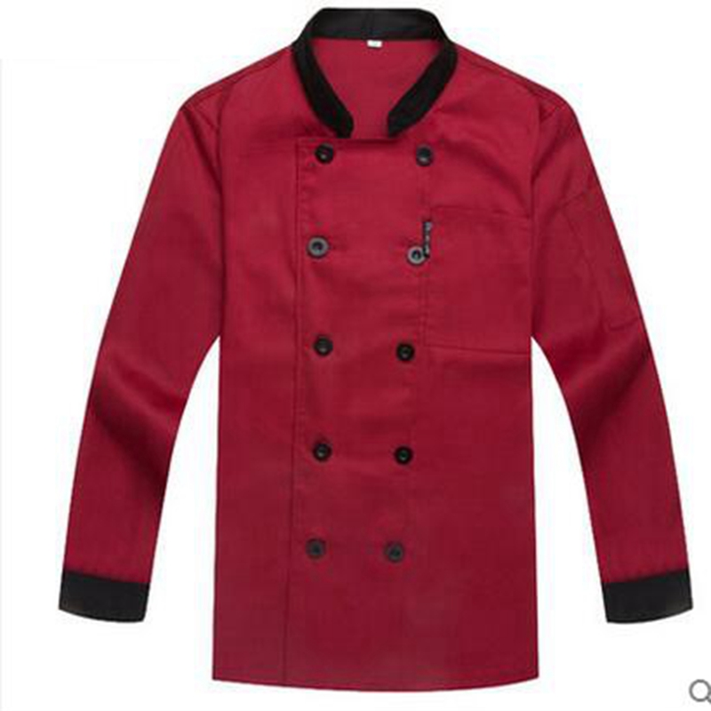 Chef Uniform Long Sleeve Hotel Overalls  Western Restaurant Waiter Clothing Hotel Kitchen Chef's Work Wear  Men and Women