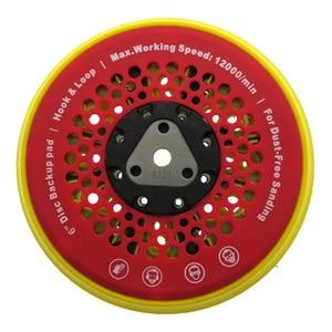 "Image 1 - 6"" 150mm 53 Hole Sanding Pad Multi functional Dust Free Backing Plate Hook and Loop"