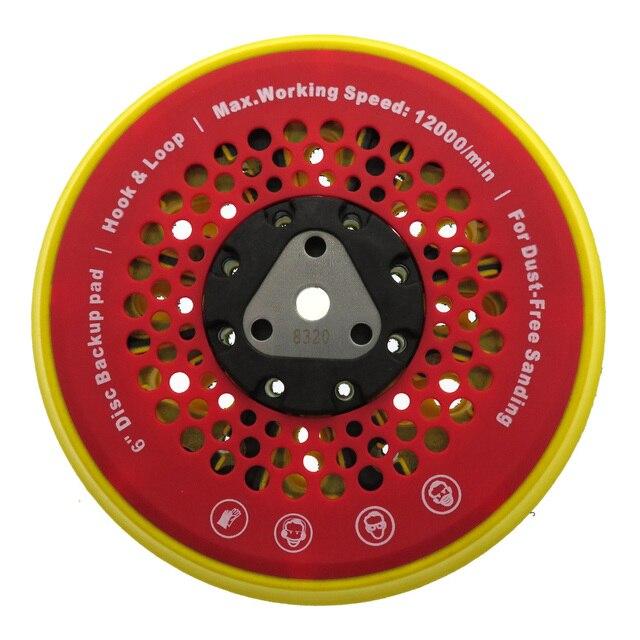 "6"" 150mm 53 Hole Sanding Pad Multi functional Dust Free Backing Plate Hook and Loop"