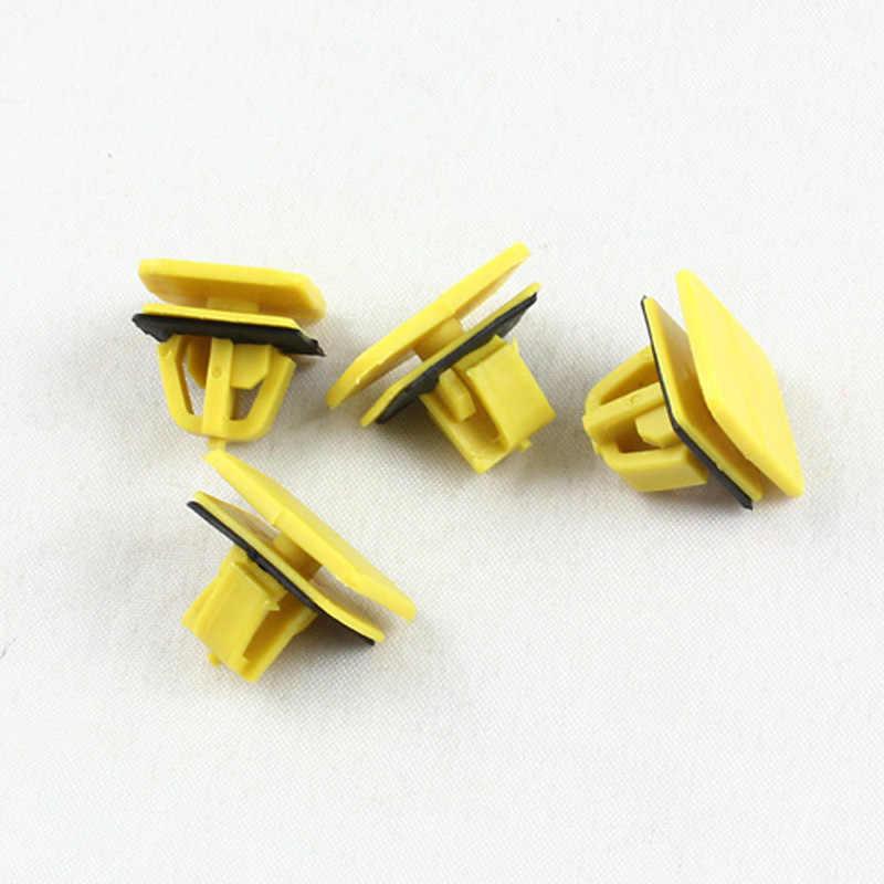 Kelimi Авто желтый пластик Клип Фиксатор порога полосы отделкой панель удерживающий зажим застежка с черной прокладкой для hyundai