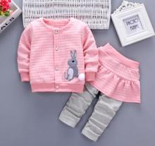 Kids Girls Baby Clothes Set 2019 Spring New Arrival Childrens Outwear Year Costume for Child 1 2 3 4 Years Old QHQ035