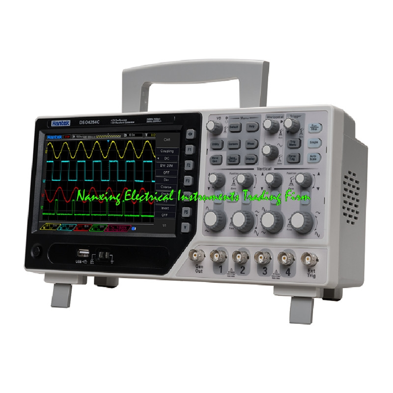 2017 Hot Sale NEW PRODUCT Hantek DSO4204C Digital Storage Oscilloscope 4CH 200MHz with 1CH Arbitary/function waveform generator цена
