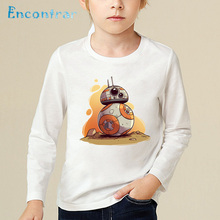 30007b52 Children BB-8 On The Move Printed Funny T-shirt Kids Star Wars Tops Baby  Boys/Girls Casual Long ...