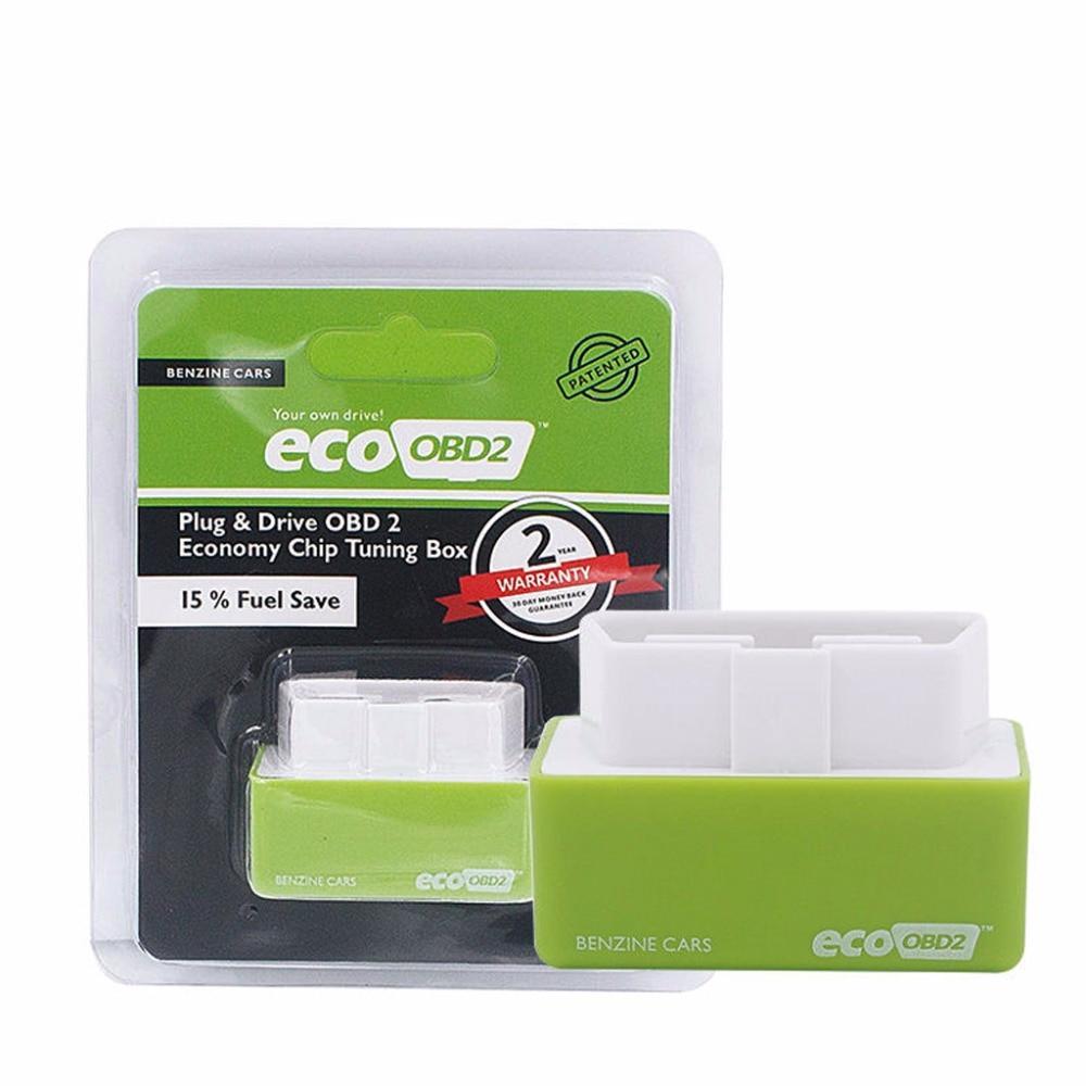 2017 увеличение Скрытая Мощность зеленый ecoobd2 Diesel Пособия по экономике чип тюнинг коробка Plug Drive эко OBD2 для Автомобили меньше топлива выбросов