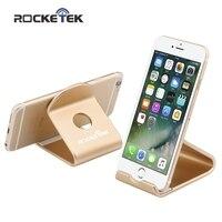 Rocketek metal de liga de alumínio suporte do telefone móvel mini universal telefone celular tablet desk mount suporte para iphone ipad celular