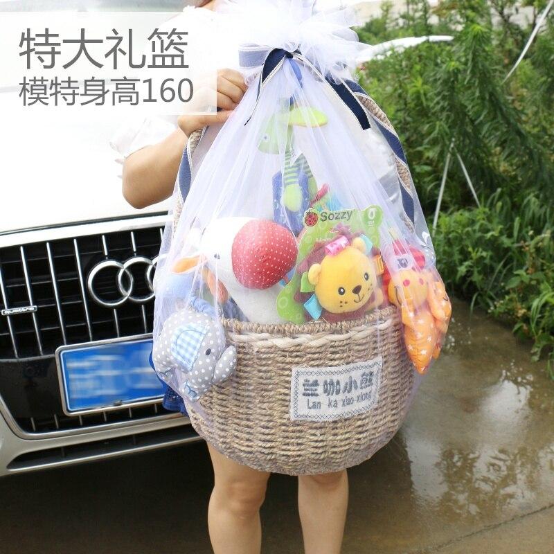 2019 ensemble de jouets en peluche coffret cadeau néonatal mère et bébé Articles coffret cadeau pour bébé coffret cadeau pleine lune sac cadeau cent jours