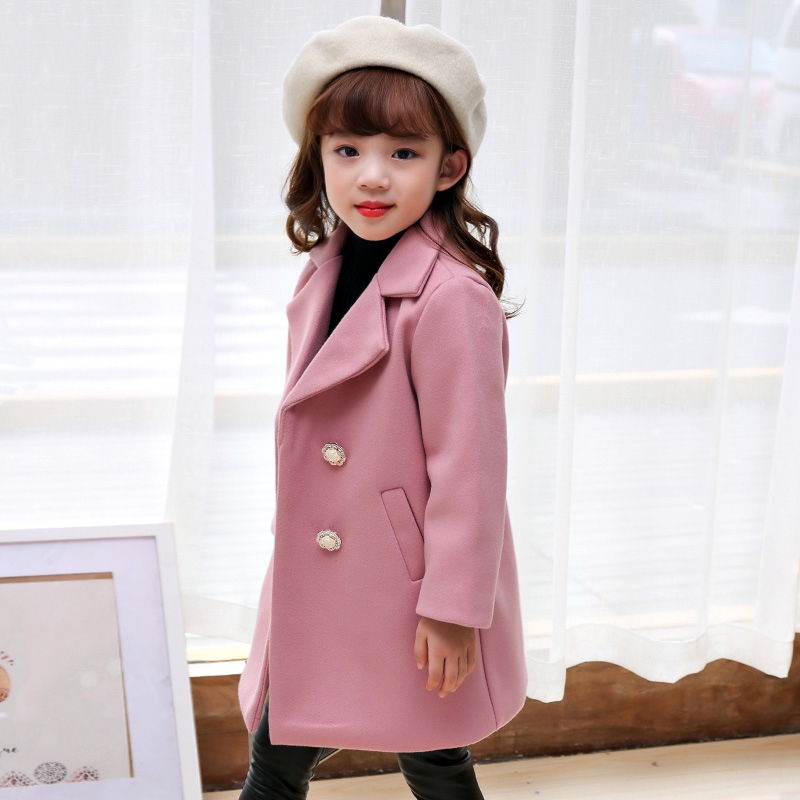877d97f00b47b Baby girls christmas winter Wool Blends jacket coats Children hooded outerwear  kids warm outfits cute woolen coats new year gift-in Wool   Blends from ...