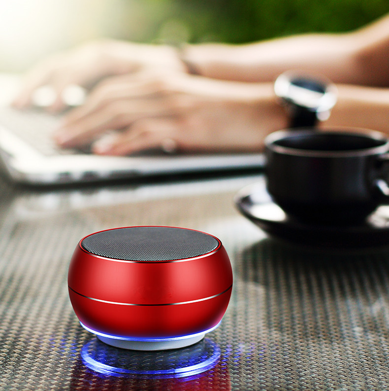 Outdoor Portable Bluetooth Speakers Wireless Speakers Built-in HD Mic 3D Stereo Speakers Support Mini Metal Cannon