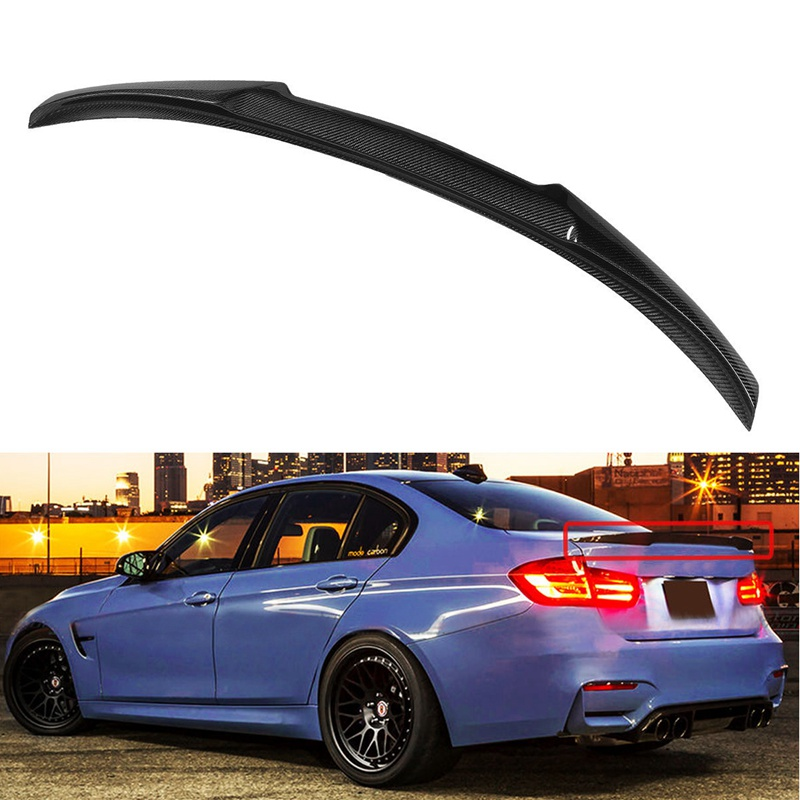Carbon Fiber M4 Look Style Trunk Spoiler For 2012-17 For BMW F30 3 Series 335i 328i for 12 16 bmw 3 series f30 4dr trunk spoiler oem painted match a83 glacier silver