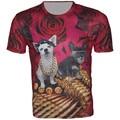2016 Summer New Brand Children t shirts t-shirt for boys kids tee tops 3D Print Animal Dog Bullet short sleeve Cool Boy Wear