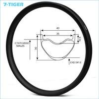 7 TIGER 27.5er Carbon MTB Bicycle Rim 650b Mountain Bike Carbon ring Rims clincher