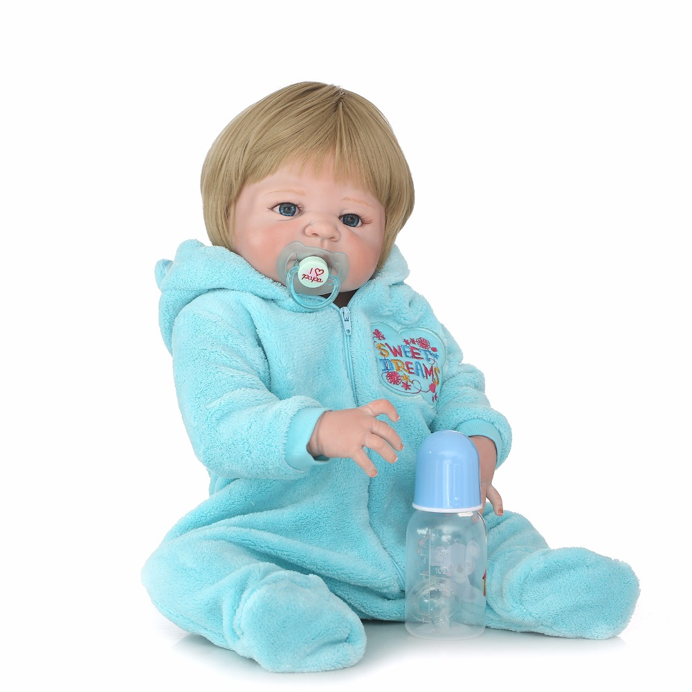 55cm Full Body Silicone Vinyl Reborn Baby Boy Doll Toy Newborn Babies Doll Girls Birthday Gift Xmas Present Bathe Toy Play House 55cm silicone reborn baby doll toy realistic 22inch newborn princess babies doll girls bonecas birthday gift present play house