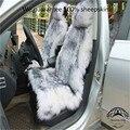 O Envio Gratuito de Luxo Inverno de Pelúcia Tampa de Assento Do Carro da pele de Carneiro Australiano para Um Banco Da Frente Pele Coxim Do Carro Auto Carro Universal Cape