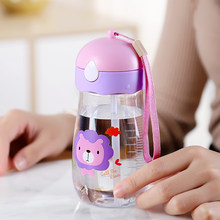 Toddler Feeding Cup Baby Bottle with Straw Portable Rope children Cup BPA Free for Kids Drinking Water copo with Bottle Brush(China)