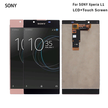 For SONY Xperia L1 LCD Display with Touch Screen Digitizer For SONY Xperia L1 G3312 Display Screen LCD Free Tools смартфон sony g3312 xperia l1 white белый