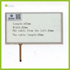ЖК-экран ZhiYuSun, 5 шт./лот, для PIONEER jav-7 дюймов, 4-проводной резистивный сенсорный экран, дигитайзер, совместима с DVD-проигрывателем