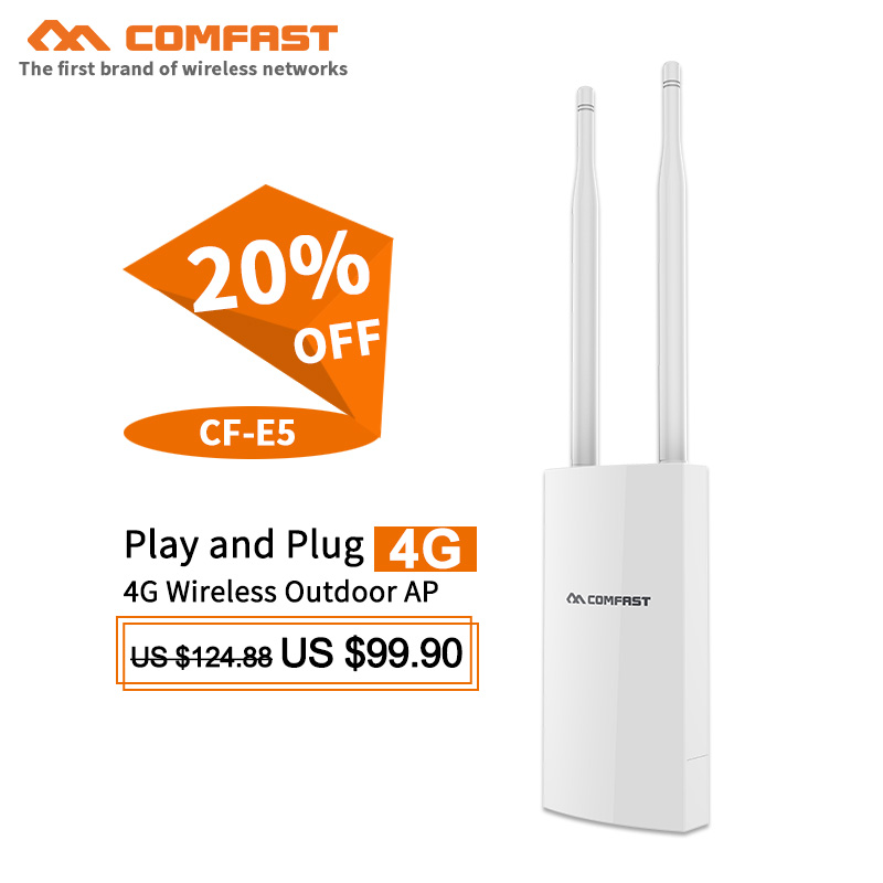 Wireless Routers Speed Outdoor 4G LTE Wireless Ap WiFi Router Plug and Play 4G Sim Card Portable Wireless Router WiFi Cf-E5,Ec25-E