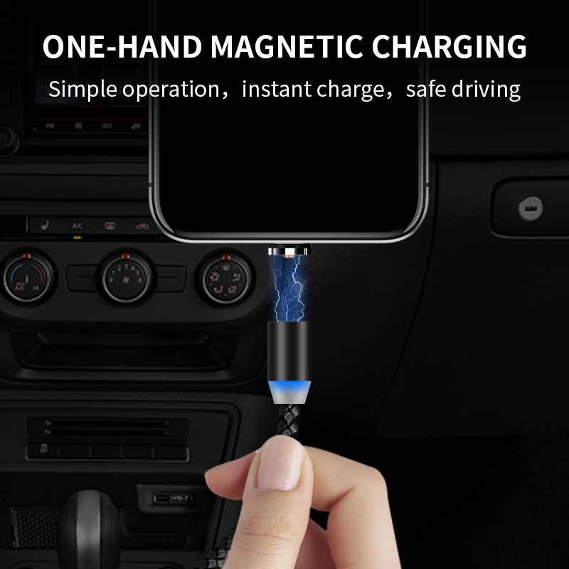 Image 4 - SUNPHG Magnetic Micro USB Charger Cable Type C Charging Wire for iPhone x xr oneplus 6t Samsung s9 Microusb Cord Mobile Phone-in Mobile Phone Cables from Cellphones & Telecommunications