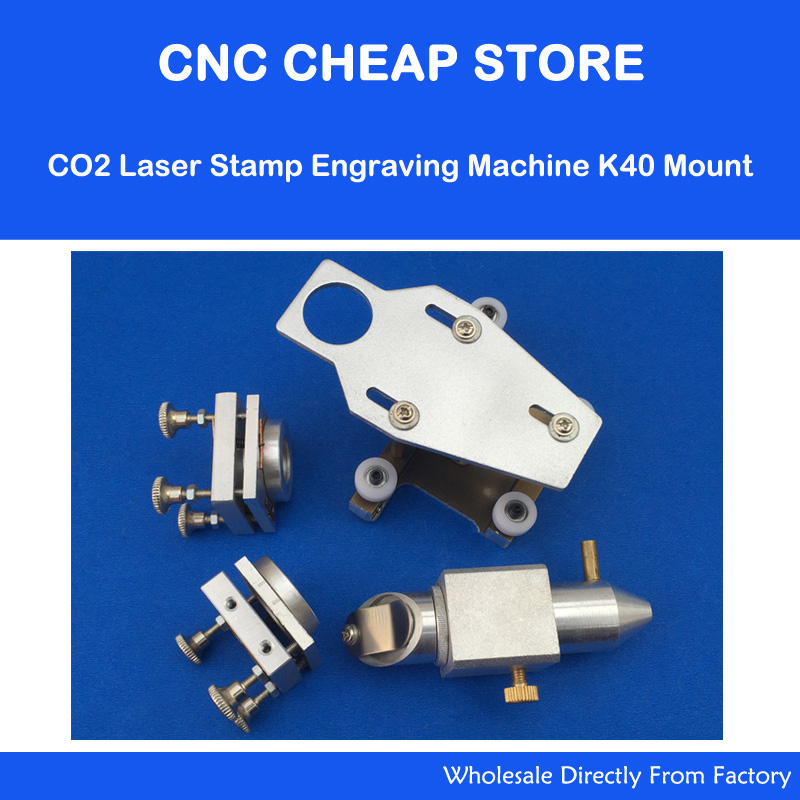 CO2 Laser Stamp Engraving Machine K40 Head Mount + 2pcs Mirror Holder Support 20mm Focus Lens 18mm laser head engraving laser cutting head for 20mm laser focus lens 25mm laser mirror