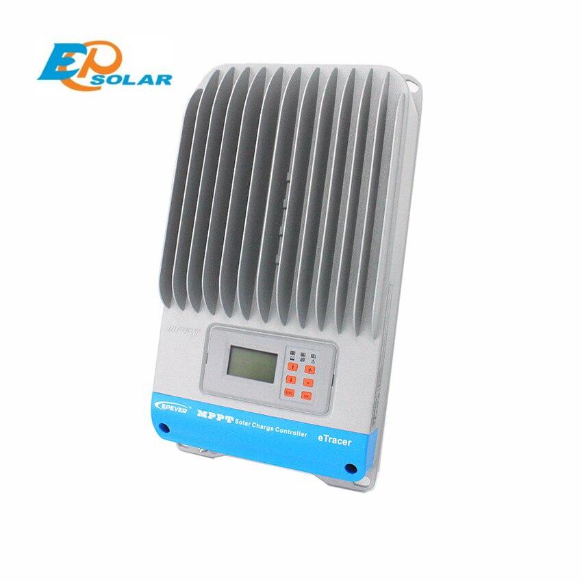 EPSOLAR 60amp MPPT Solar Charge Controller EP eTracer 6420BND 12V 24V 36V 48V auto work EPEVER max PV Voc. 200V input 12v 24v 48v mppt solar charge controller 60a solar charge controller with lan rs232 max voc 150v vented sealed gel
