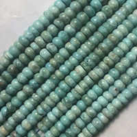 rondelle larimar/Copper Pectolite beads natural stone beads DIY spacer beads for jewelry making strand 15 free shipping