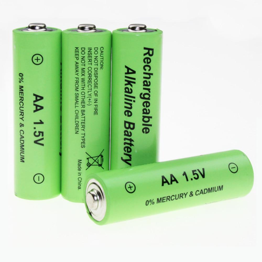 8pcs 1.5v AA Alkaline Rechargeable Battery 1600mAh-in