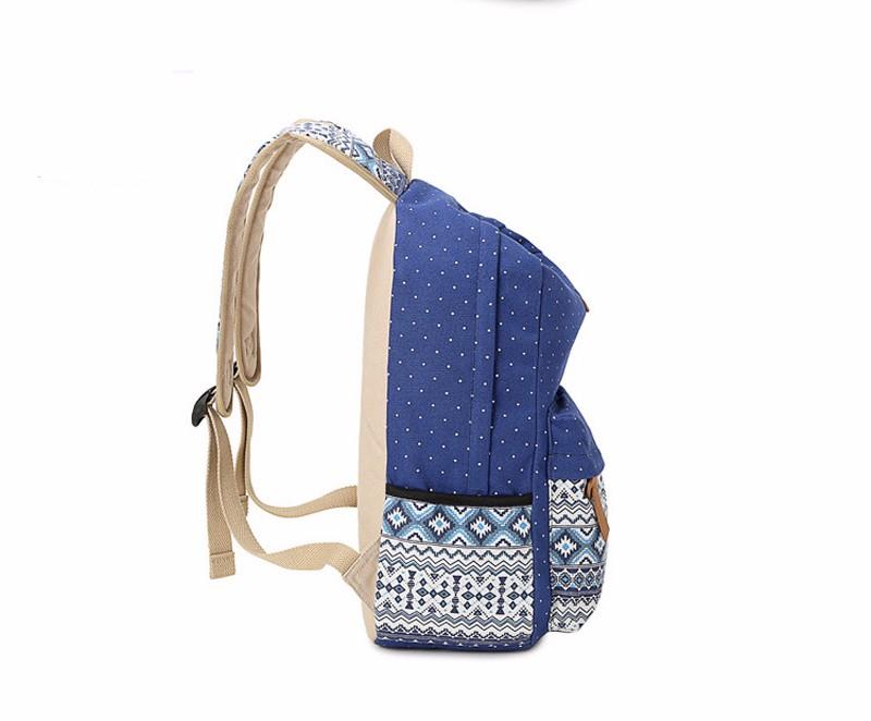 Canvas Printing Backpack Women School Bags for Teenage Girls Cute Bookbags Laptop Backpacks Female Bagpack 3 Piece one Set 9