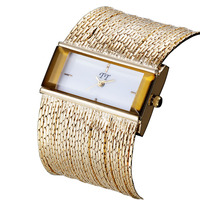 Luxury Ultra Slim Chain Quartz Watch Women Bracelet Diamond Fashion All Occasion Dress Bangle Clock Case