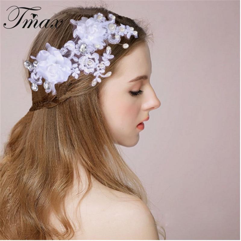White Flower For Hair Wedding: New Hot Romantic Style Pearl Wedding Hair Crowns