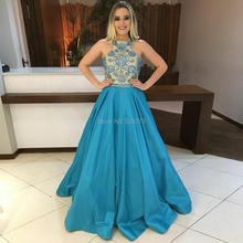 YNQNFS PD54 Elegant Heavy Beaded Nude Teal Two Tone Crystal Prom Dresses (China) be9286c499ee