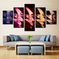5 Pieces Movie Power Rangers Poster Wall Art Picture Home Decoration Living Room Canvas Print Wall