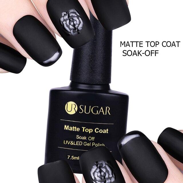 UR SUGAR Gel Lacquer UV Gel Nail Polish Matte Sealer No Wipe Top ...