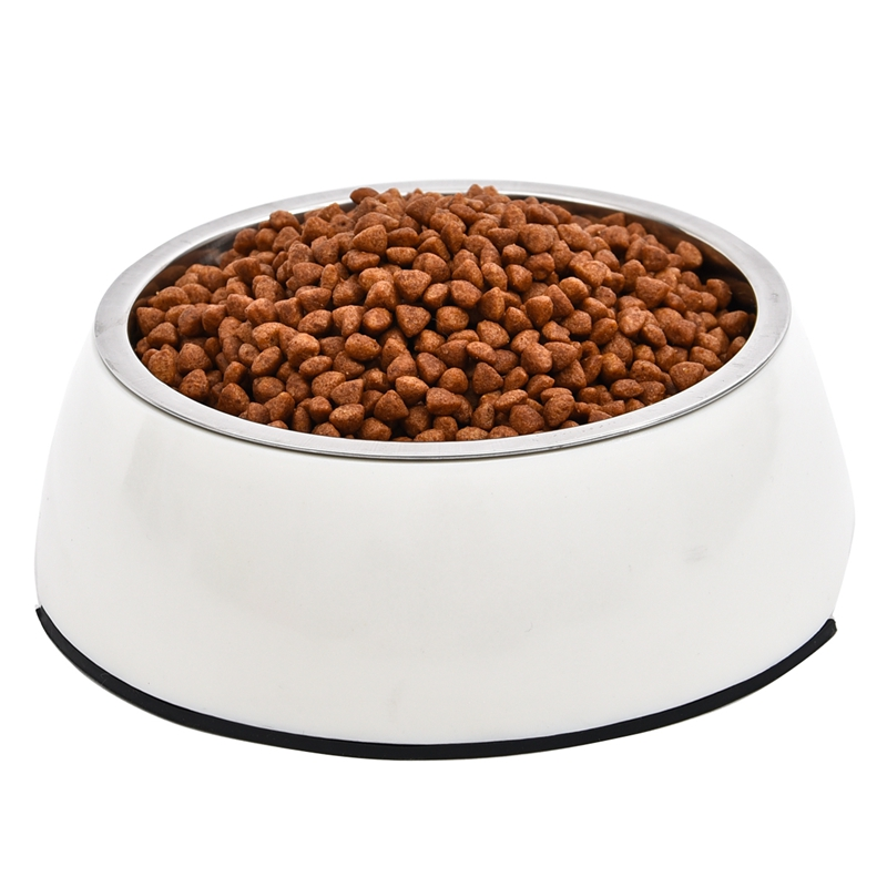 pet wholesale dog cat bowl bowl round shape product skid stainless steel material - Cat Bowls