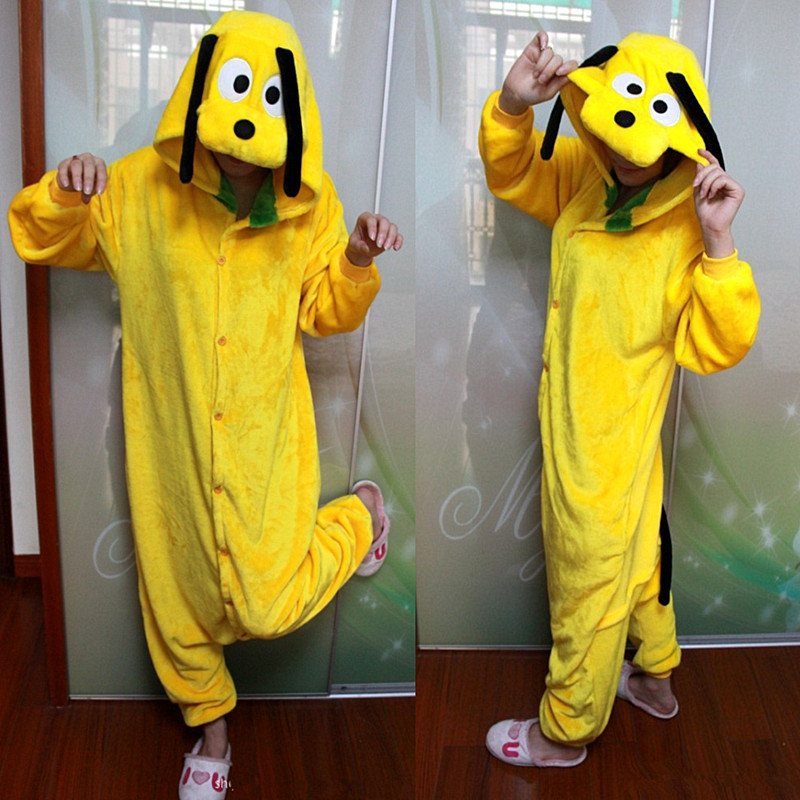 Cosplay Kigurumi Costum Pluto Yellow Onesies Jumpsuit Hoodies Adulti Cos Costum pentru Halloween si carnaval