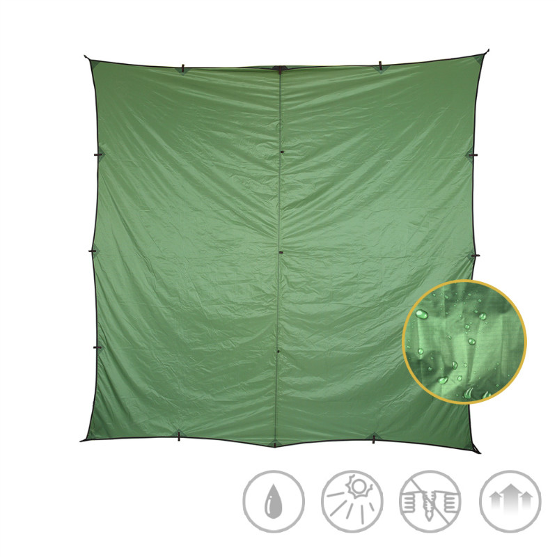 Showing the full size of the tent