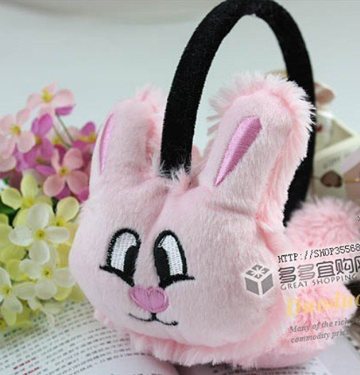 16PC New Mix color Cartoon model plush Warm earmuffs free shipping