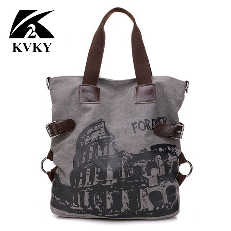 KVKY Forever Colosseo Printing Women Bags Handbags New Fashion high quality canvas women handbags famous brand designer handbags бра colosseo 82702 1w alserlo