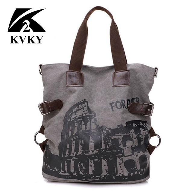 KVKY Forever Colosseo Printing Women Bags Handbags New Fashion high quality canvas  women handbags famous brand eae8c5d32c21f