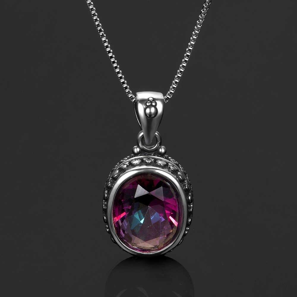 למעלה מותג 925 סטרלינג כסף תכשיטי טבעת עגילי תליון שרשראות תכשיטי סטים עם קשת טופז אבנים לנשים חתונה