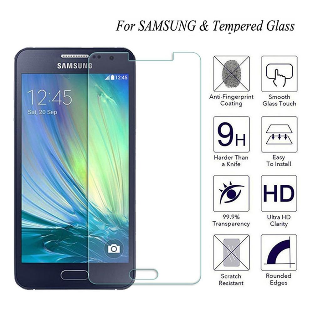 2.5D <font><b>9H</b></font> HD Tempered <font><b>Glass</b></font> Screen Protector For <font><b>Samsung</b></font> <font><b>Galaxy</b></font> <font><b>A3</b></font> A5 A7 2015&<font><b>2016</b></font>&2017 Screen Protective Film on For A8 A9 15/16 image
